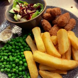 Market Inn scampi and chips